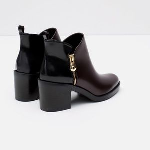 Zara Contrast Ankle Boots